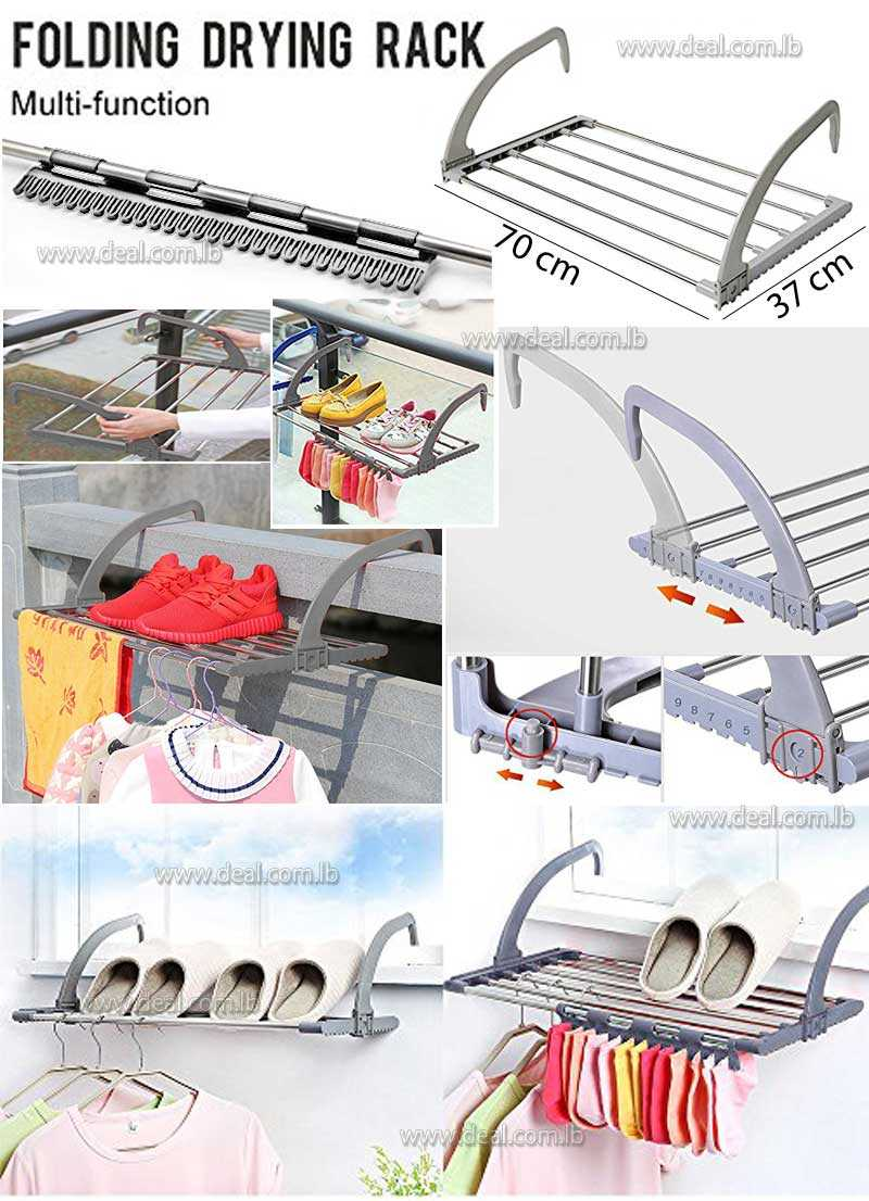 Folding clothes rack Outdoor Easy Install Folding Clothes Drying Rack