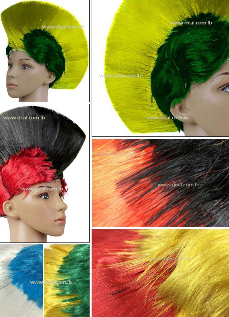 Football wigs colorful