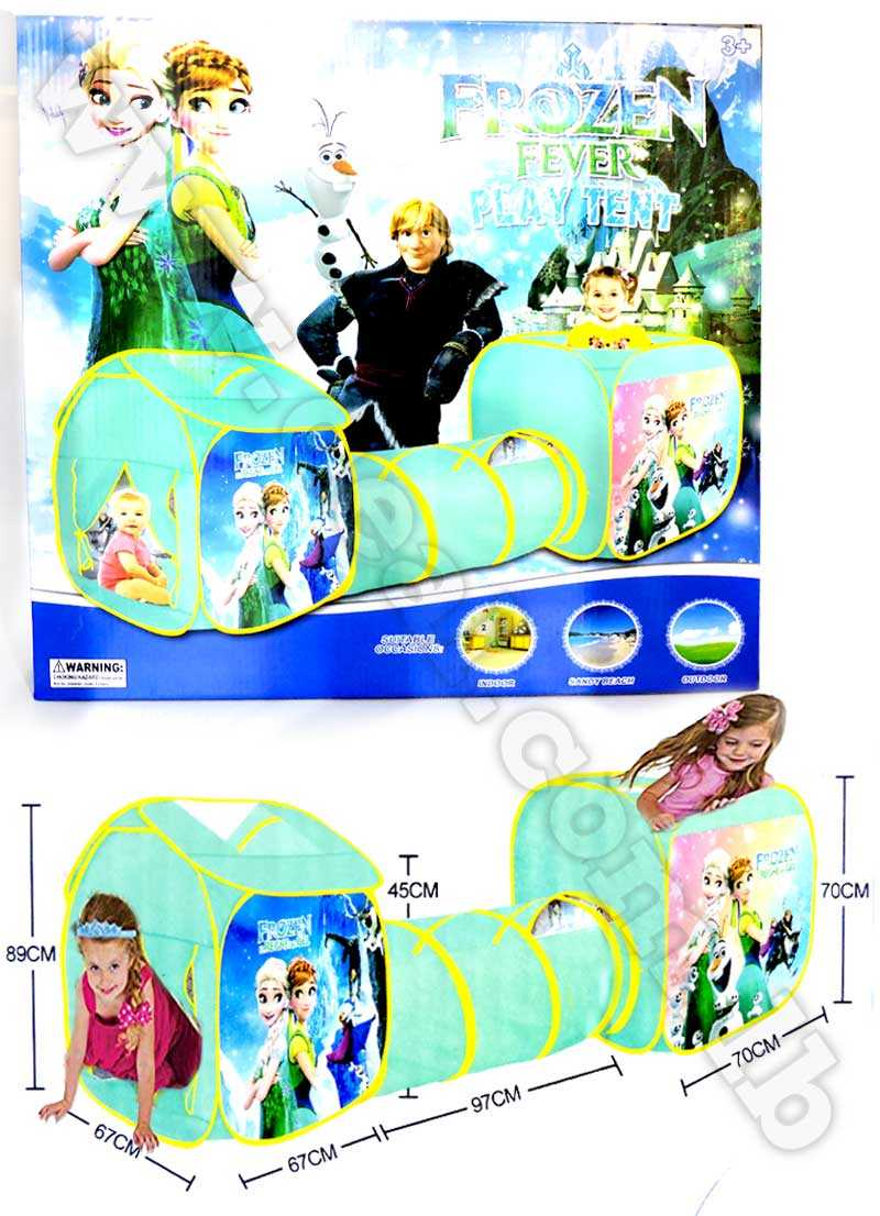 Frozen 3 in 1 Portable  Play Tent with Tunnel