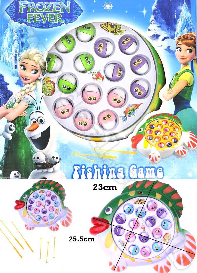 Frozen Fever Fish Catching Fun Game Toy For Kids