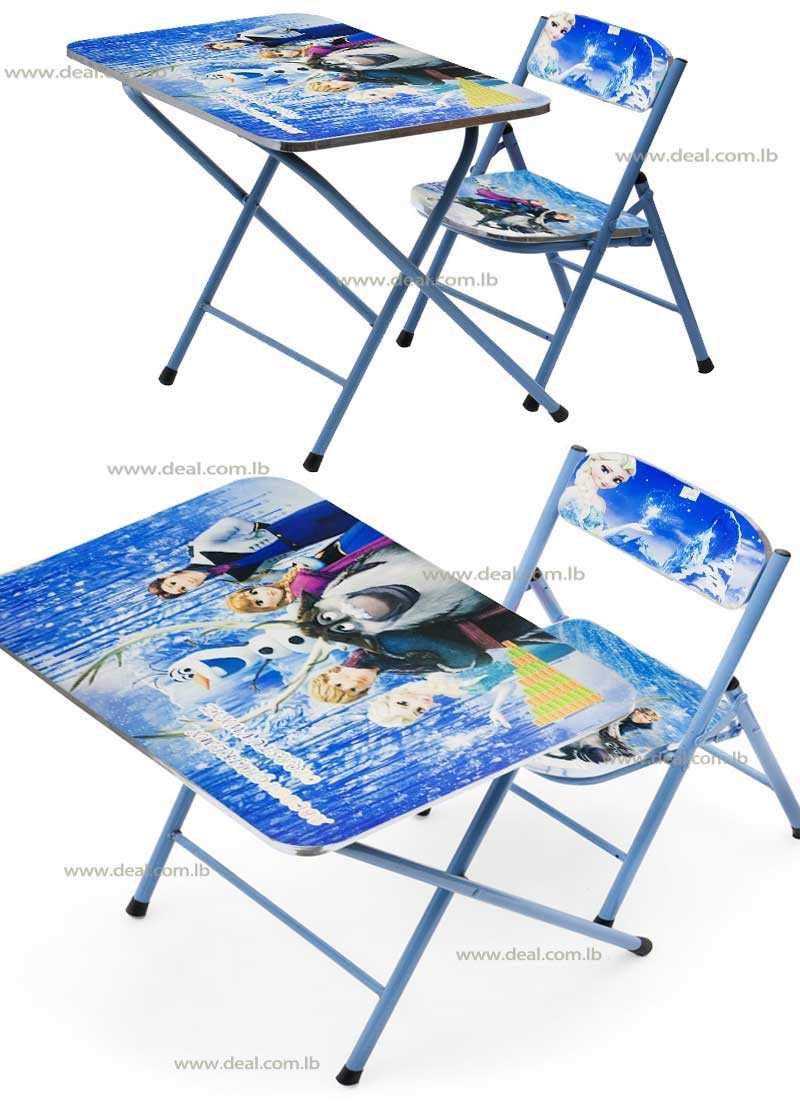 Frozen Kids Foldable Study Table And Chair