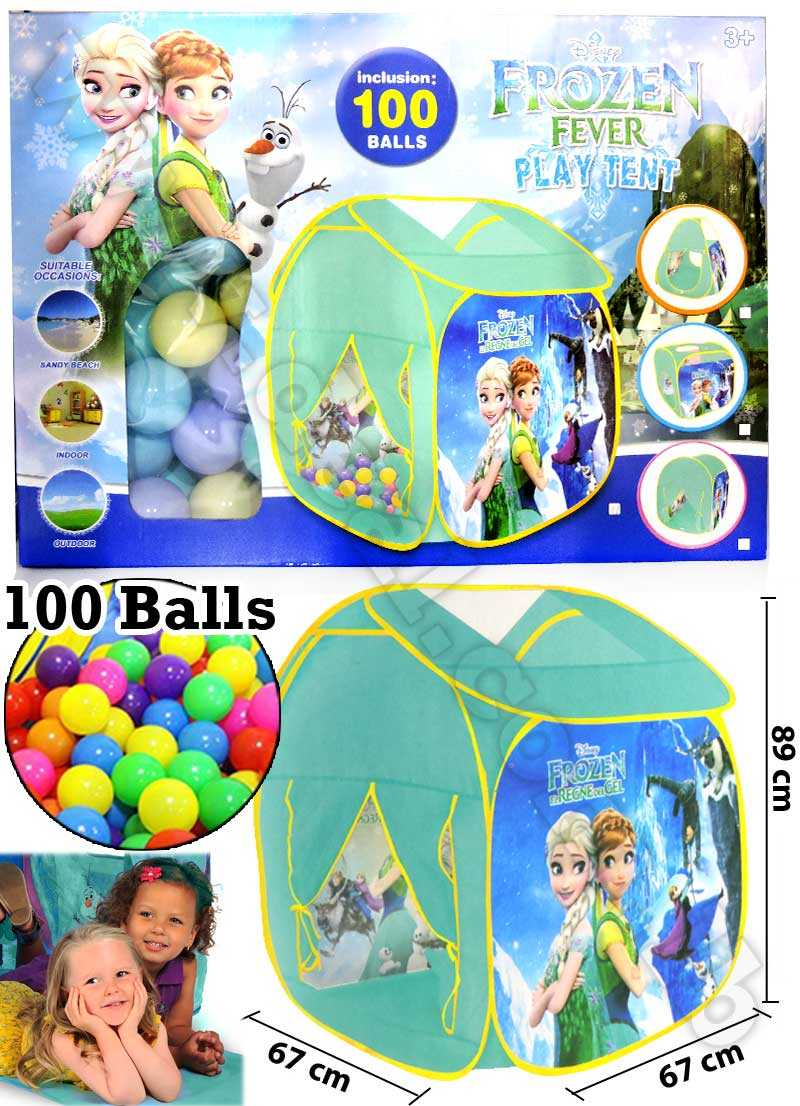 Frozen Tent House With 100 Balls