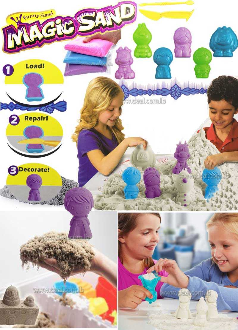 Frozen moulding  magic sand funny sand
