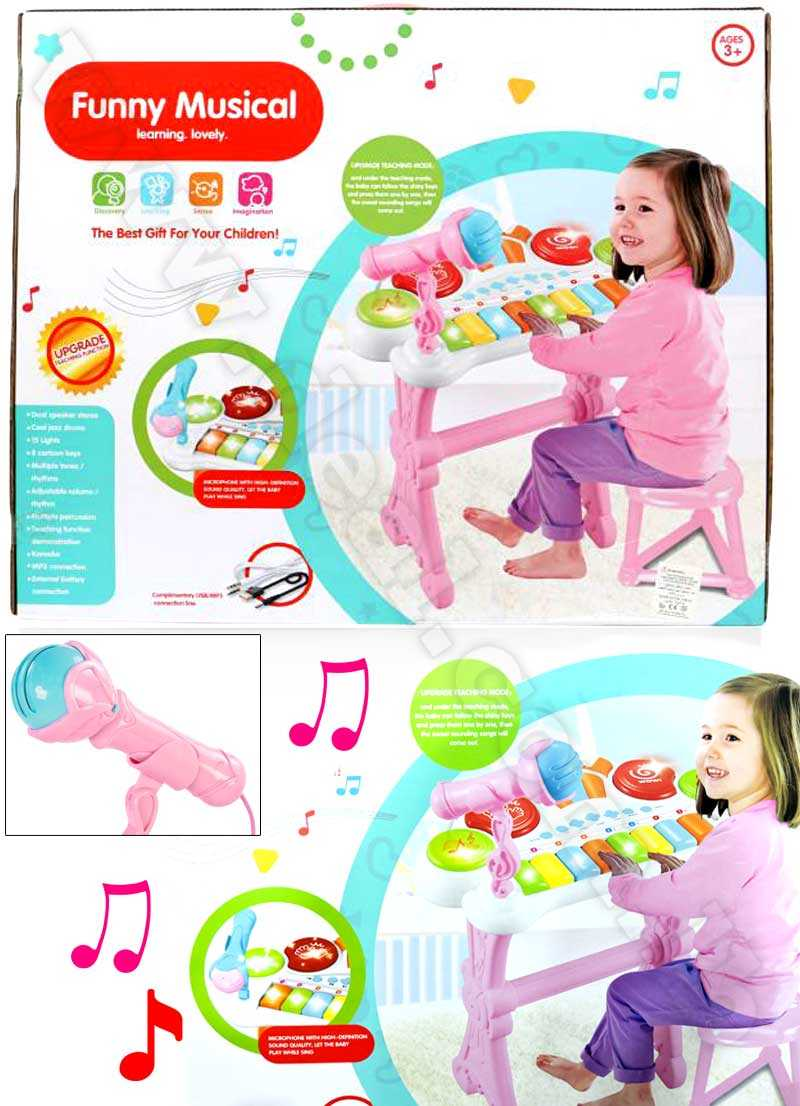 Funny Musical 25 Keys Light and Musical Instruments Toy