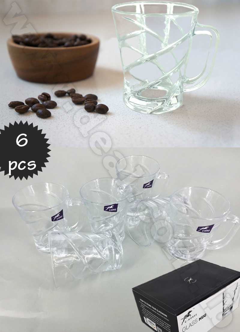 G-horse Set of 6 Mini Glass Tea Cups