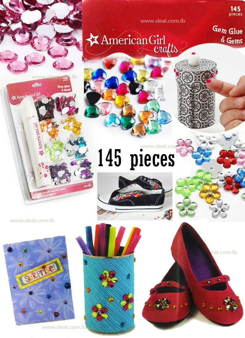 Gem Glue And Gems 145 pcs