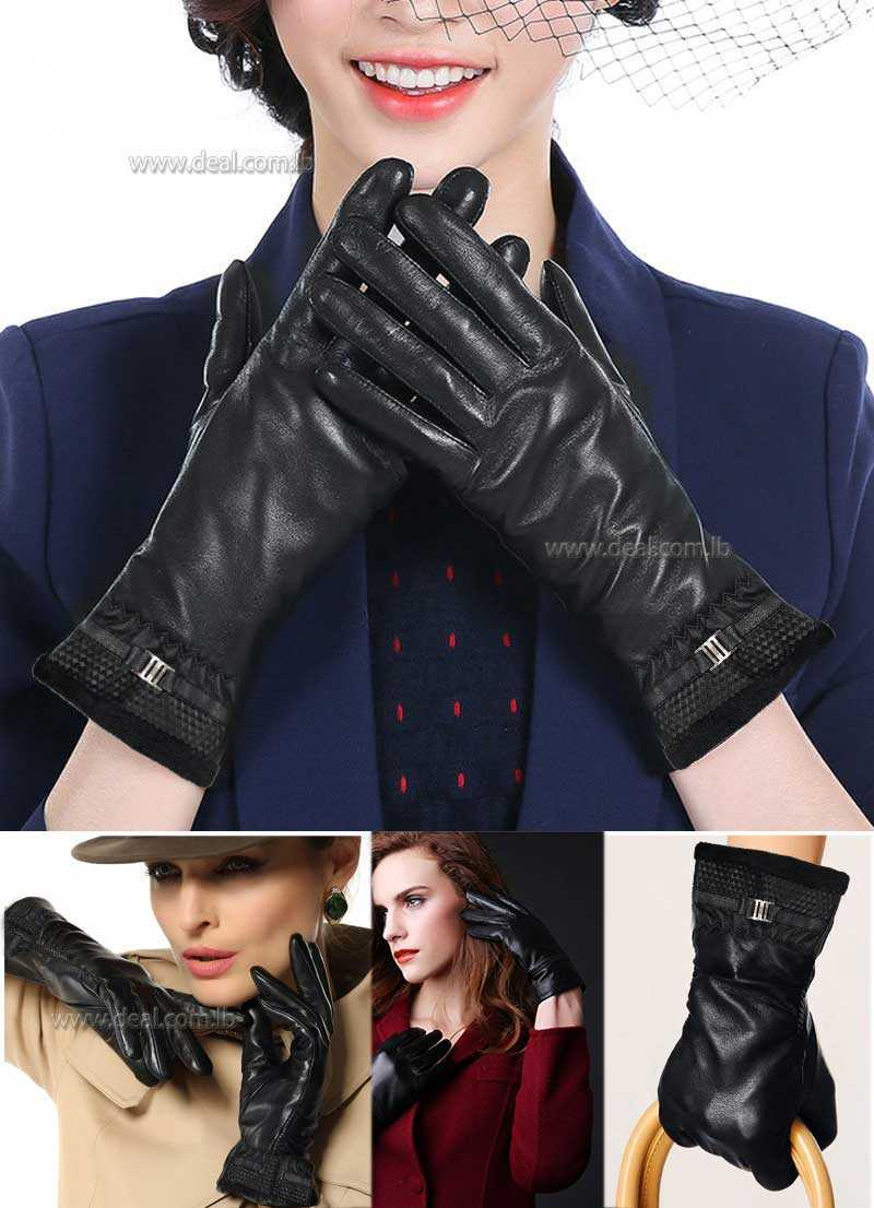 Genuine Leather Gloves Female Winter Autumn Women Leather Gloves