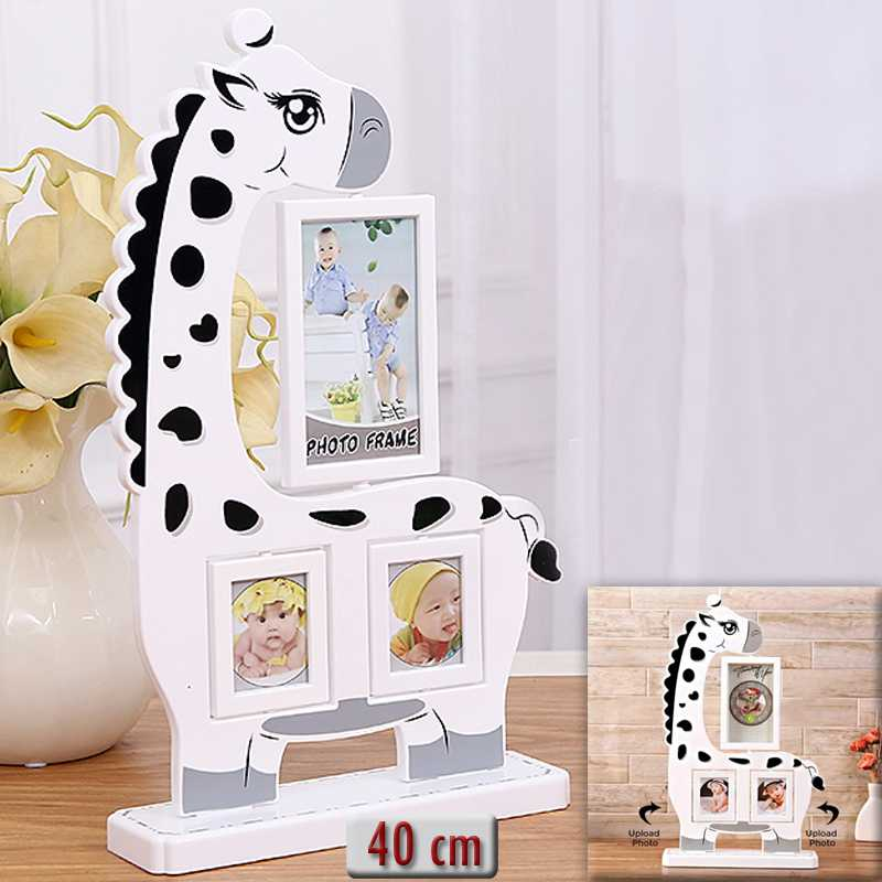 Giraffe+shaped+personalized+photo+frame