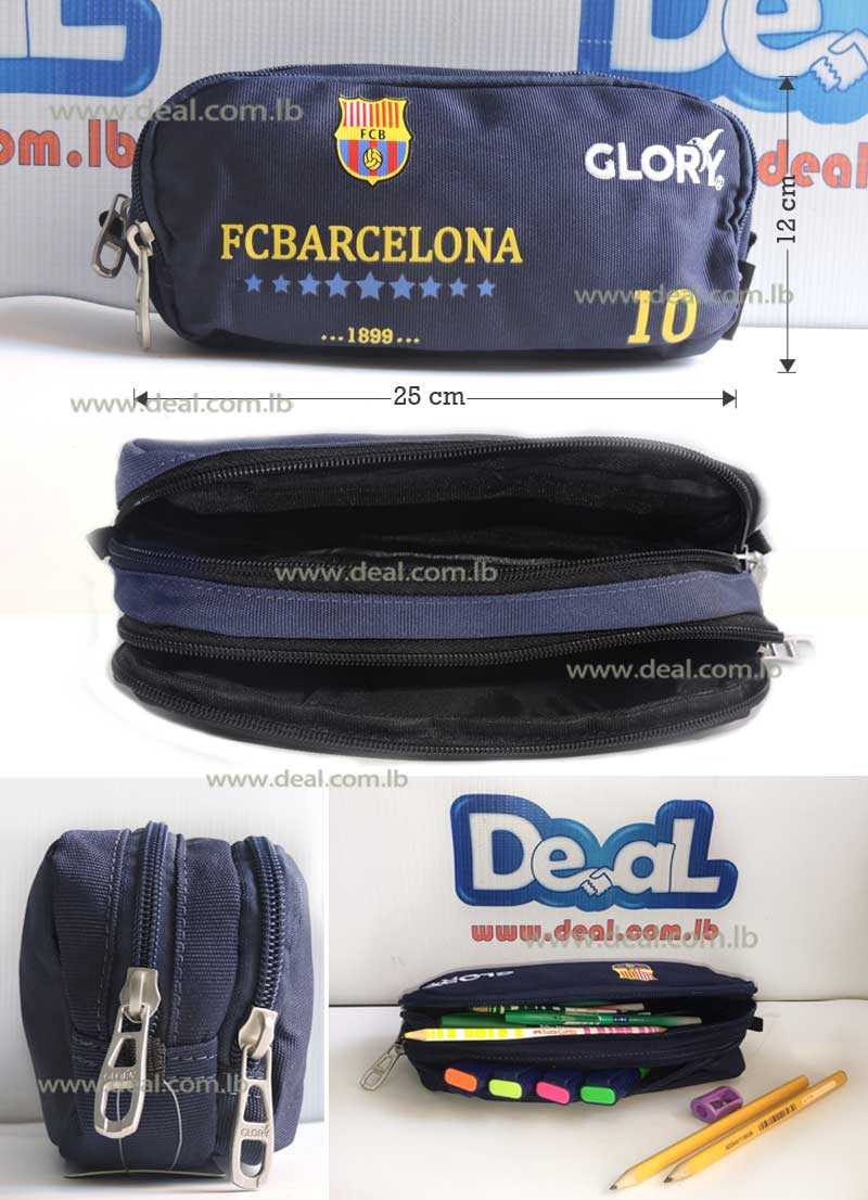 Glory Zippered Pencil Case Barcelona