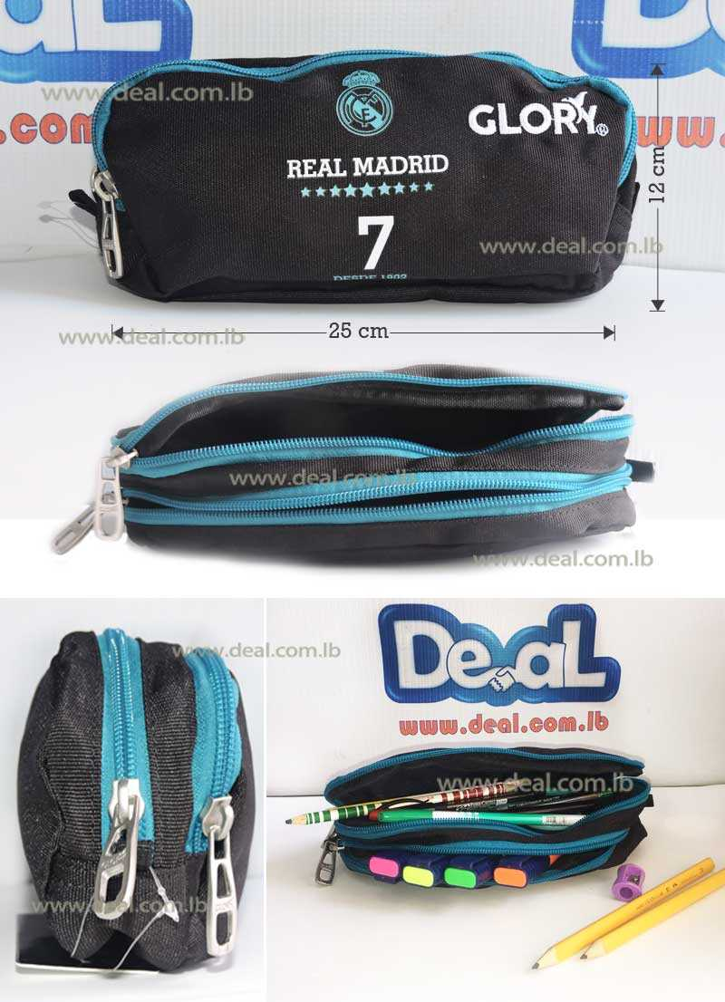 Glory Zippered Pencil Case Real Madrid