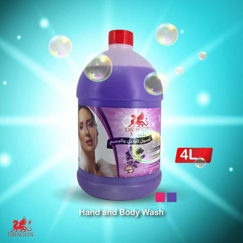 Hand and body washing 4 L