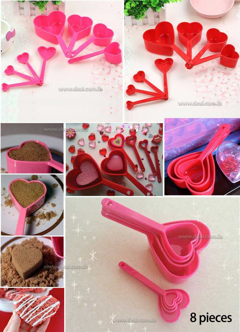 Heart+shape+Measuring+cups+Measuring+tool+Kitchen+tools+Measuring+set+Tool+for+baking+Coffee+Tea