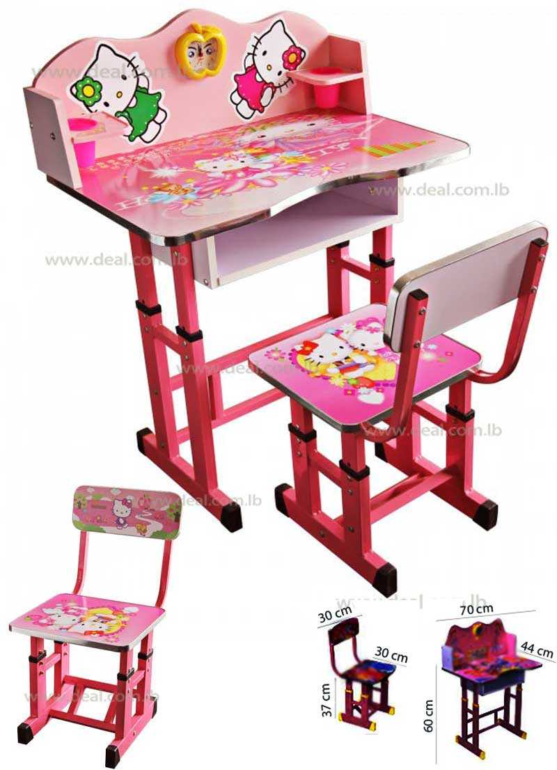 Hello Kitty Kids Foldable Study Table And Chair