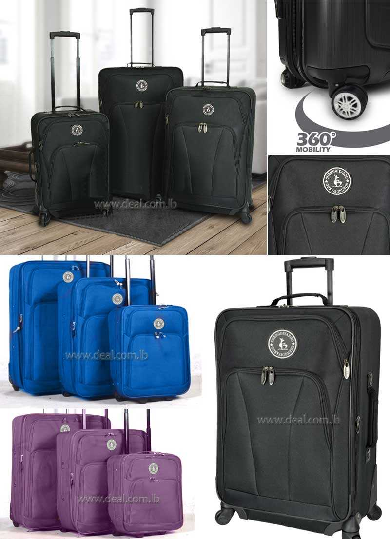 High quality 3pcs baggage Suitcases luggage trolley