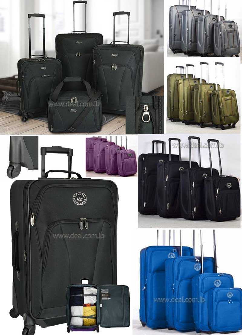 High quality 4pcs baggage Suitcases luggage trolley