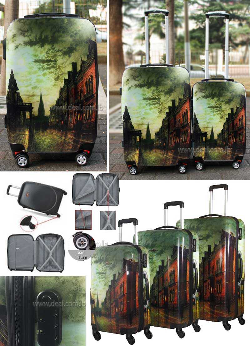 HighFlyer Printed 3pcs luggage set Landscape