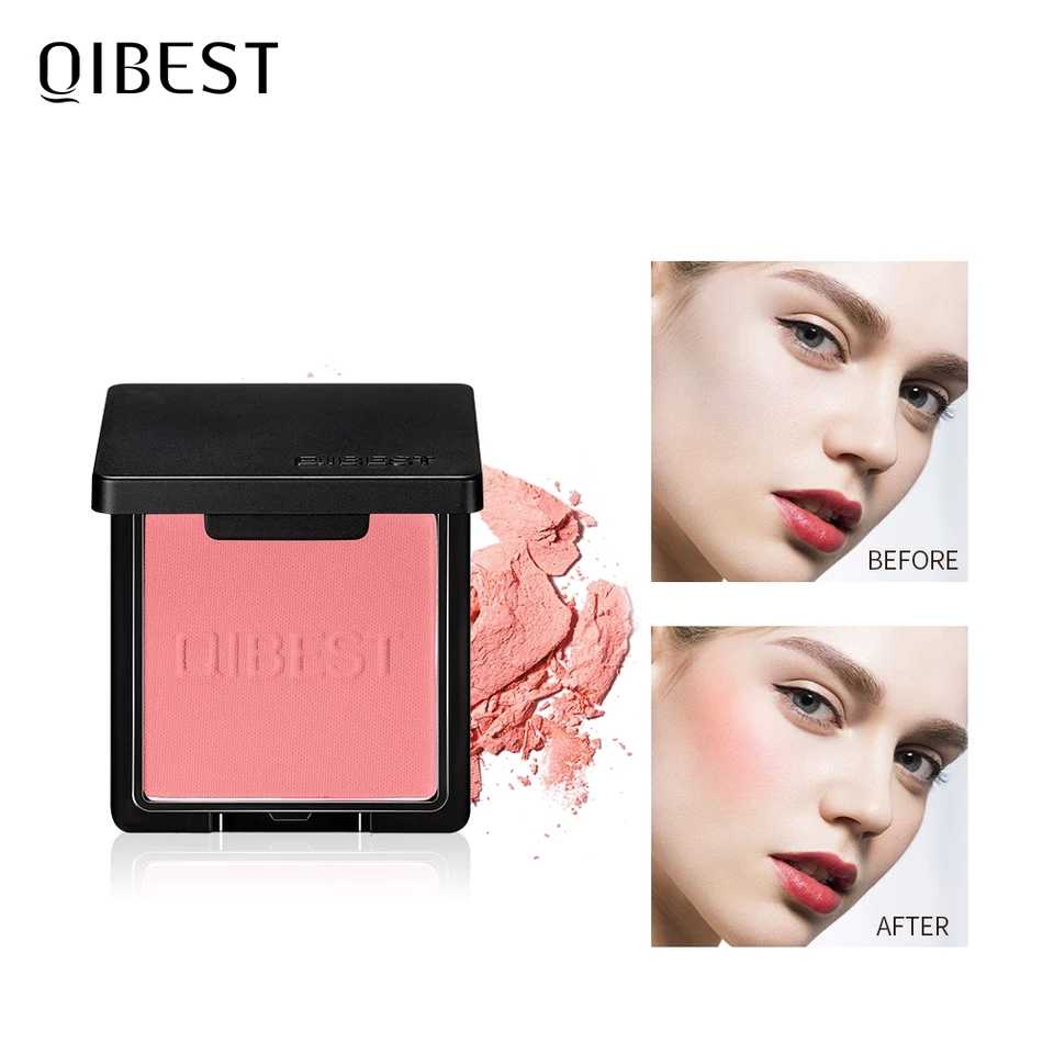 QIBEST Makeup Blusher Powder Palette Top Quality Professional Cheek 8 Colors Blusher Face Contour Blusher Korean Cosmetics