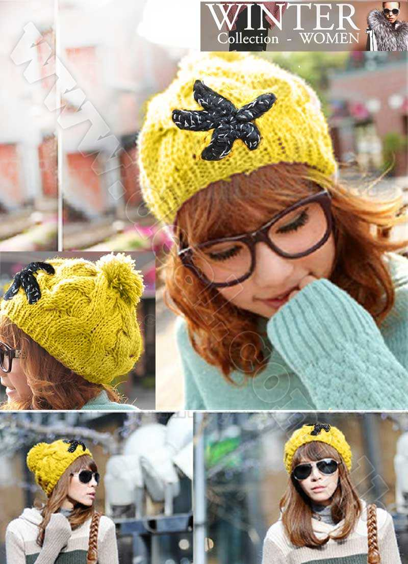 Hobo Beret Braided Baggy Beanie Crochet Winter Snow Hat