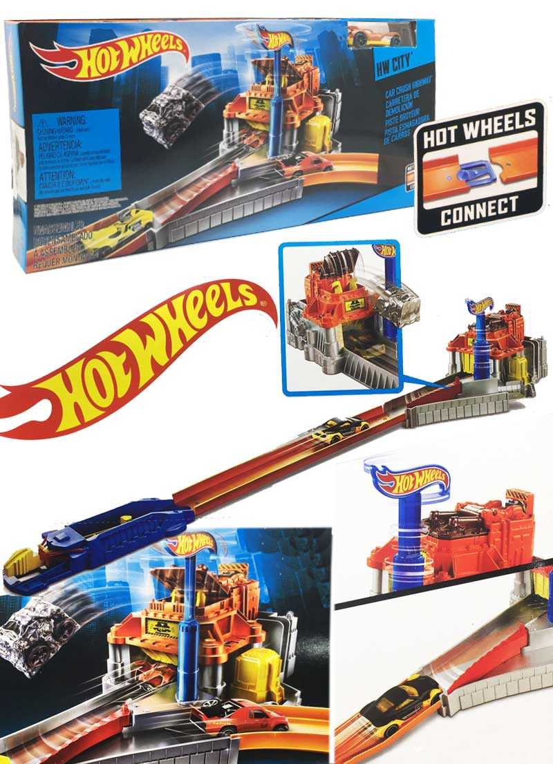 Hot wheels HW City car crush highway