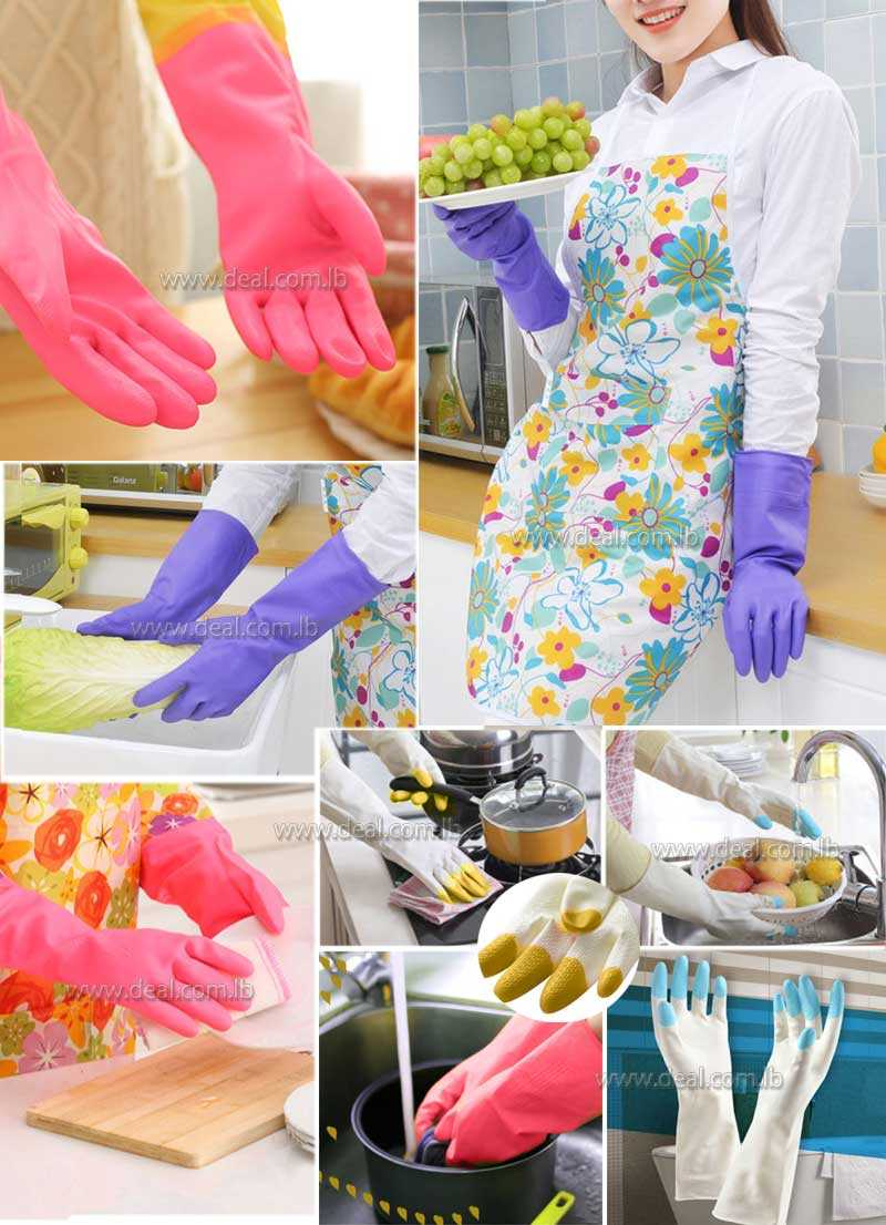 Household PVC GLoves For Cleaning Dish Washing Gloves Soft Protect Hands