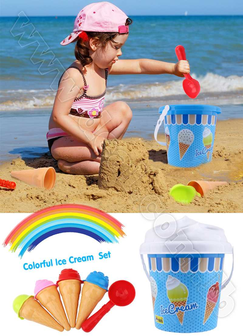 Ice Cream Sand Models Bucket Set