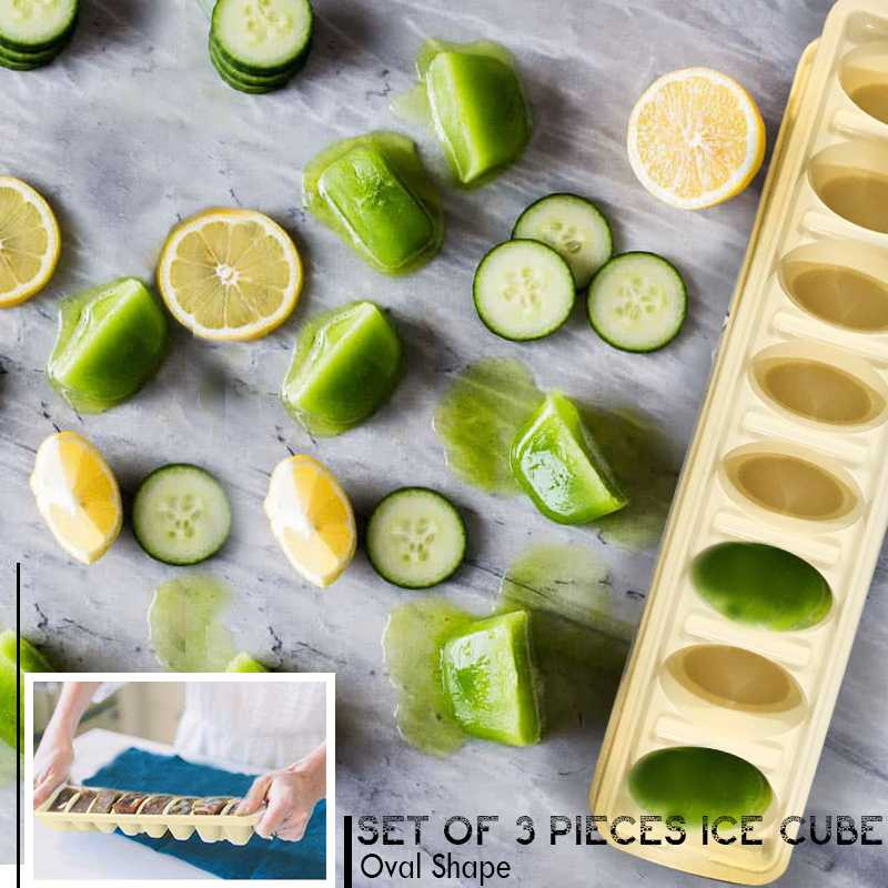 Ice Cube Tray Set Of 3 Pieces