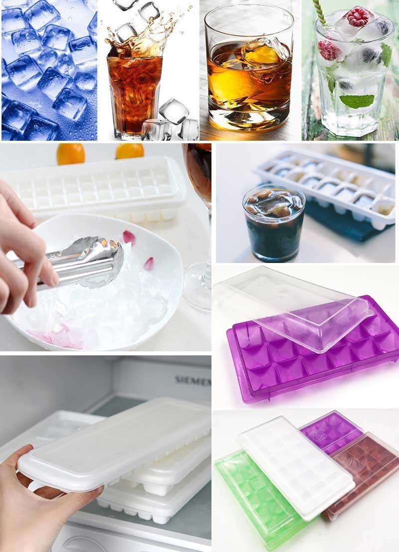 Ice Mould With lid  Ice Tray Cubes Mini Cube Pudding Plastic Mould Ice Cream Tool