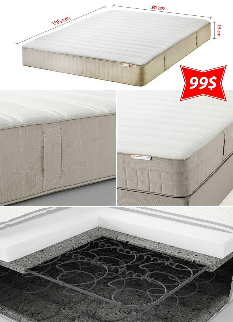 Ikea Mattress White