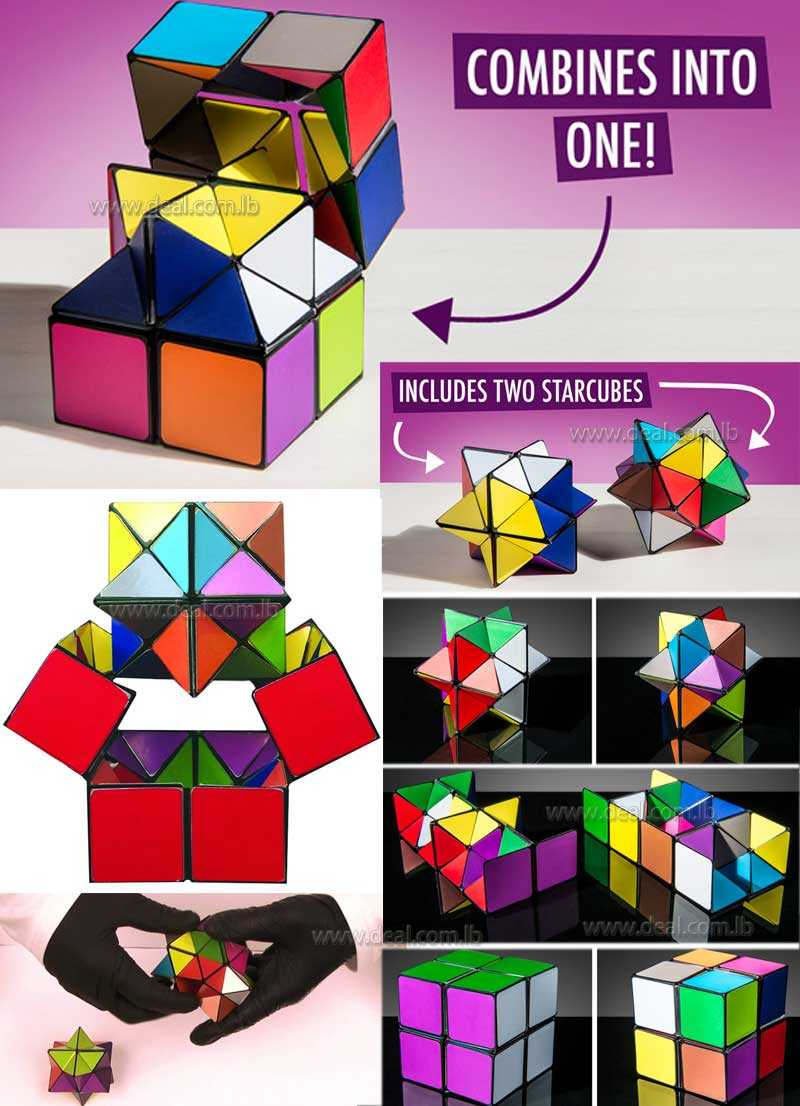Infinity Cube Fidget Toys for Adult 2 in 1 Colorful Infinity Speed Cube Unlimited Transforming Geometric Puzzle Magic Cube Square