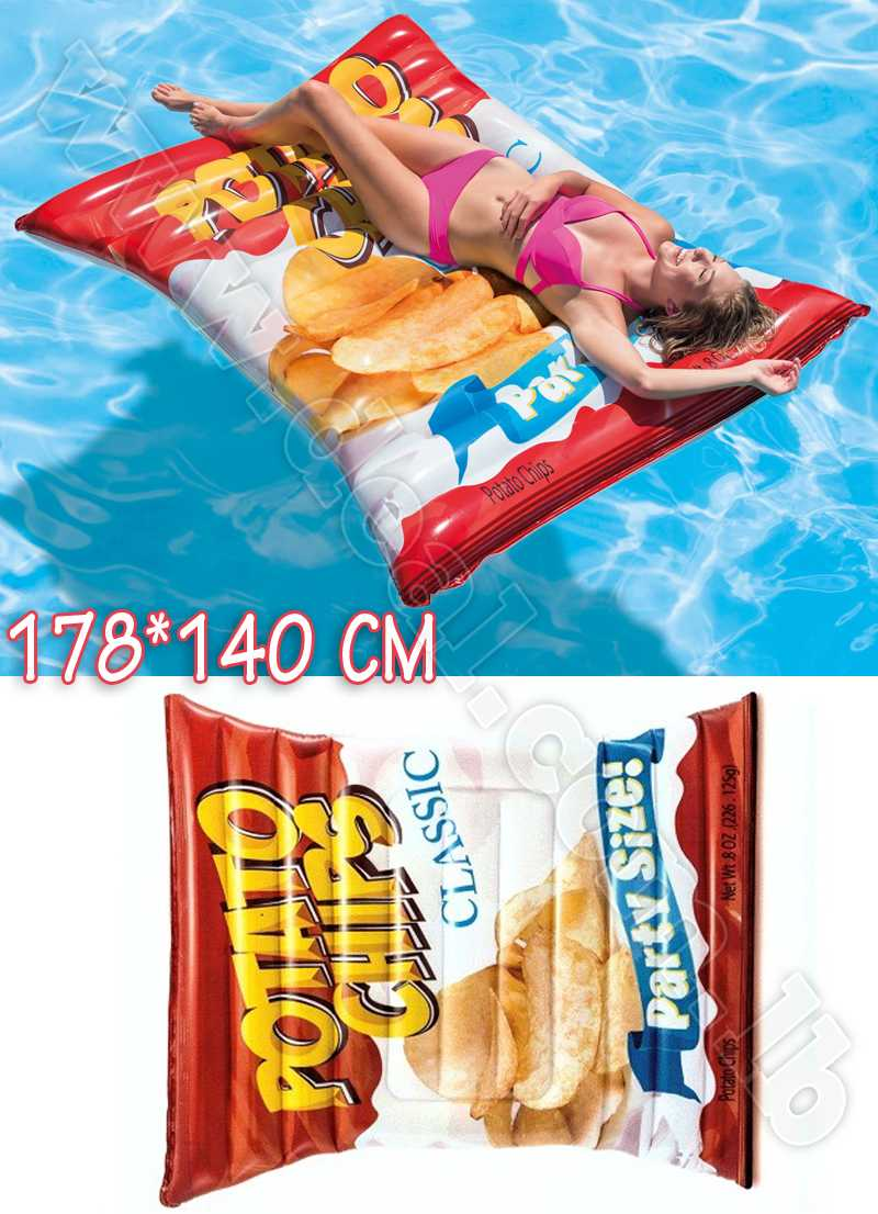 Intex Inflatable Chips Mattress Potato Chips