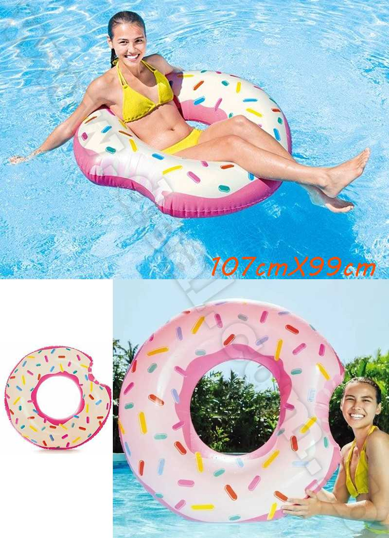 Intex Inflatable Donut Swimming Pool Pink Donut