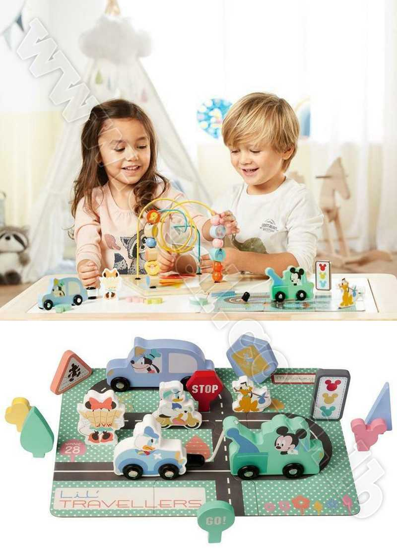 JUNIOR Wooden toy city puzzle kit