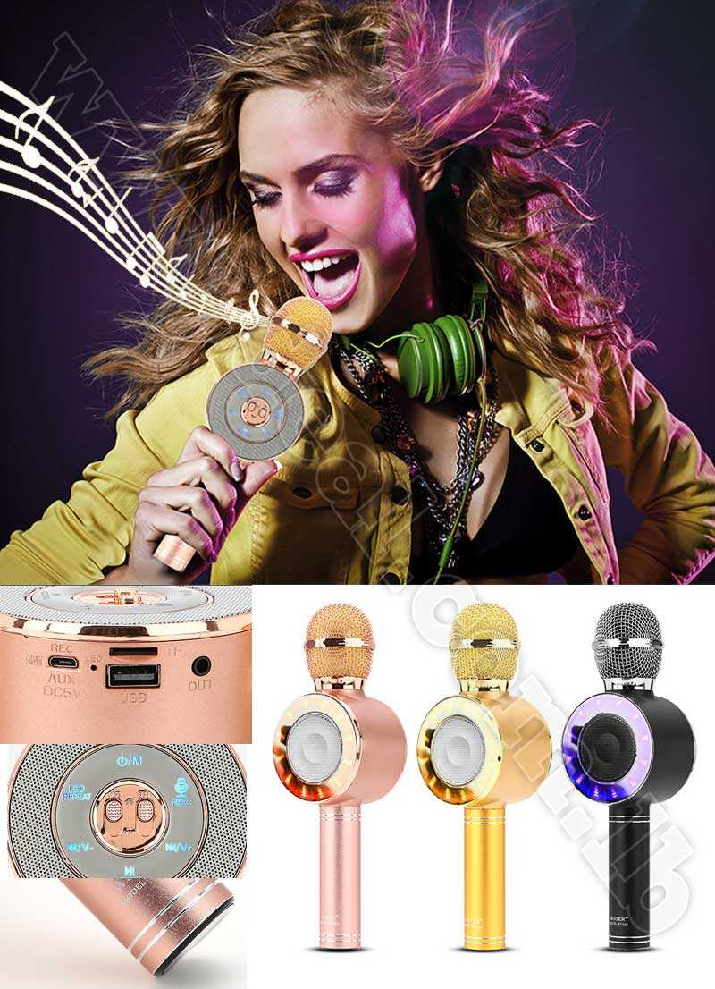Karaoke Microphone Disco light