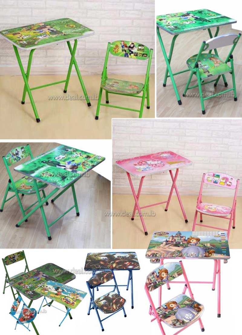 Kids Foldable Study Table And Chair