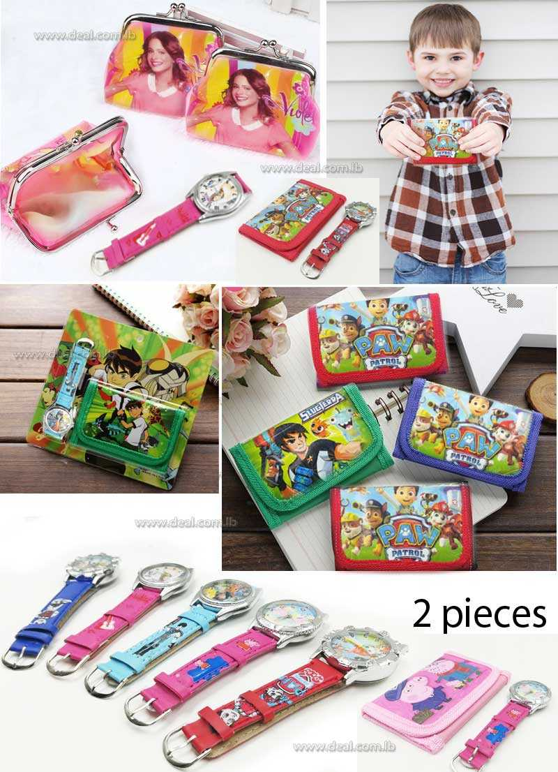 Kids Sets Watch And Wallet Purse