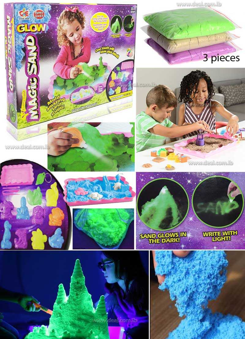 Kinetic Sand Molds and Tools Kit  18 Piece Animal Theme With Tray