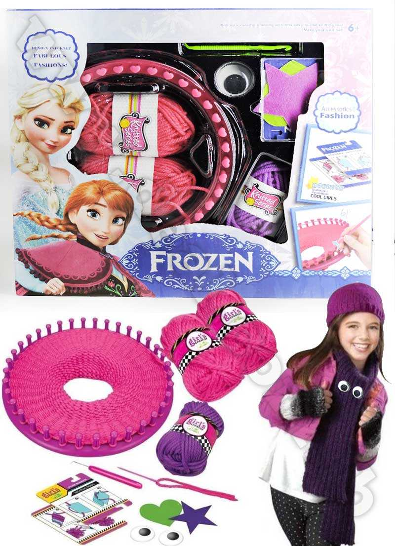 Knitting Frozen Hat Set