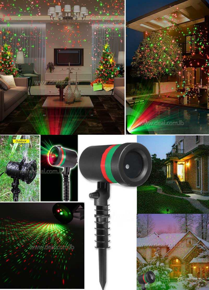 LED Motion Laser Light Projected Outdoor Indoor Xmas Christmas Light