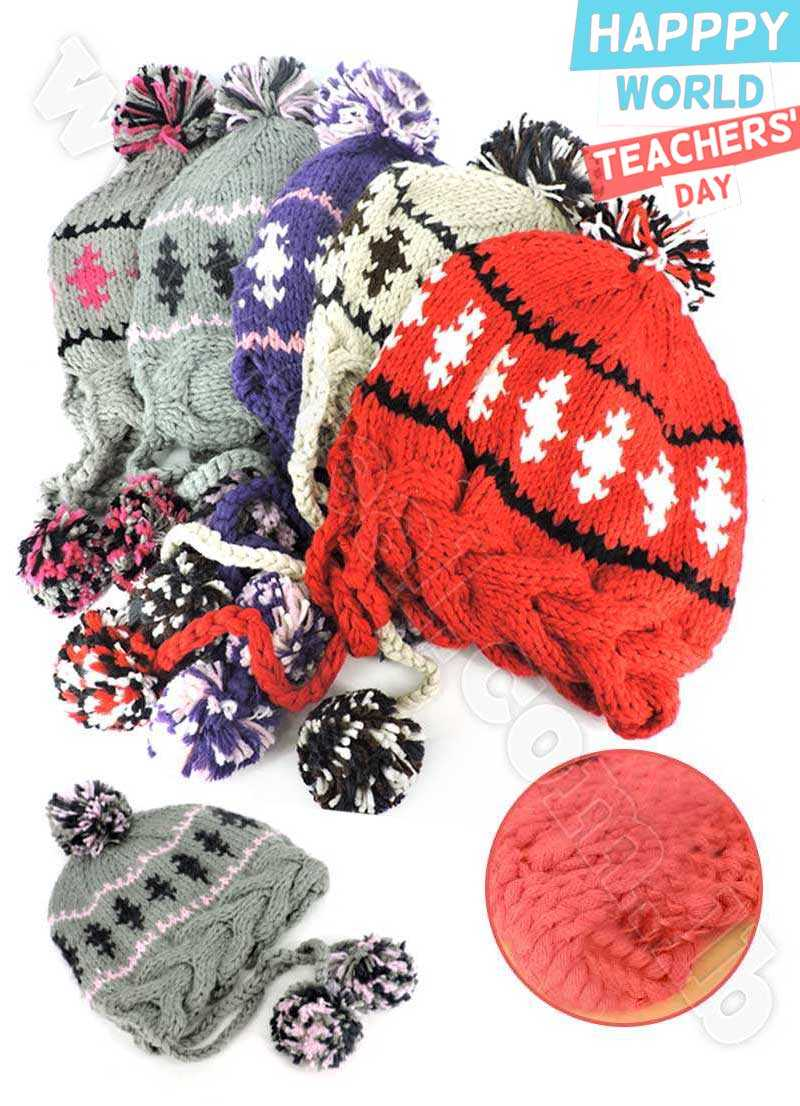 Ladies+Girls+Wool+Cable+Knit+Hat+Peruvian+Hat+Beanie