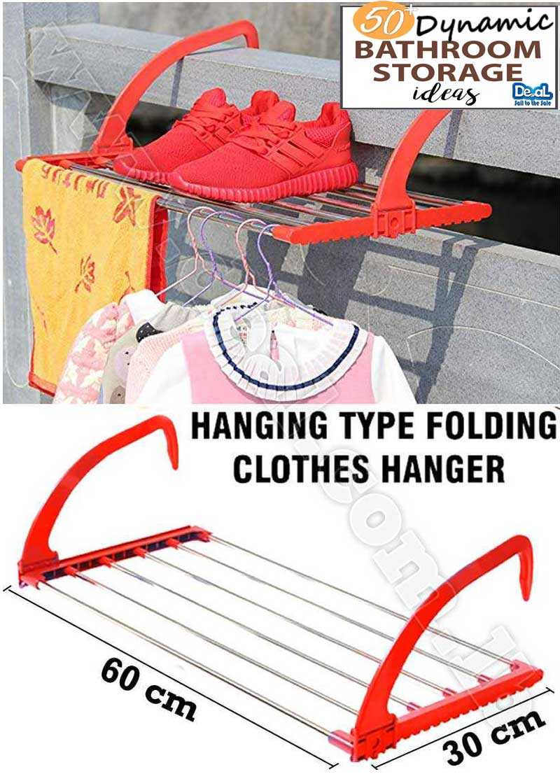 Laundry Folding Clothes Hanger Rack Wall