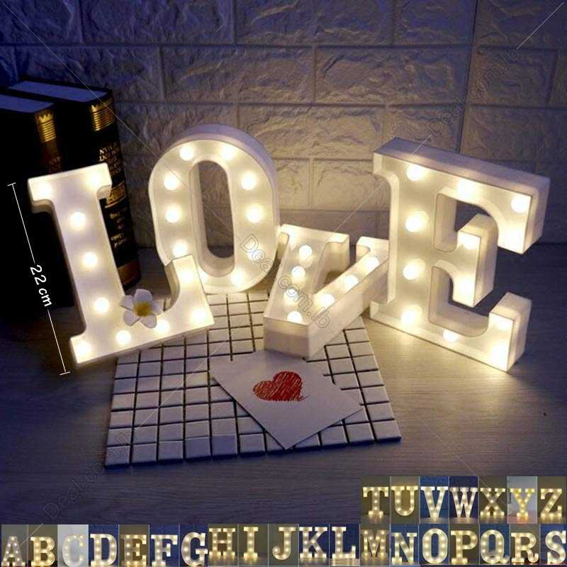 Letters+Lights+LED+Light+Up+White+Warm+Marquee+Standing