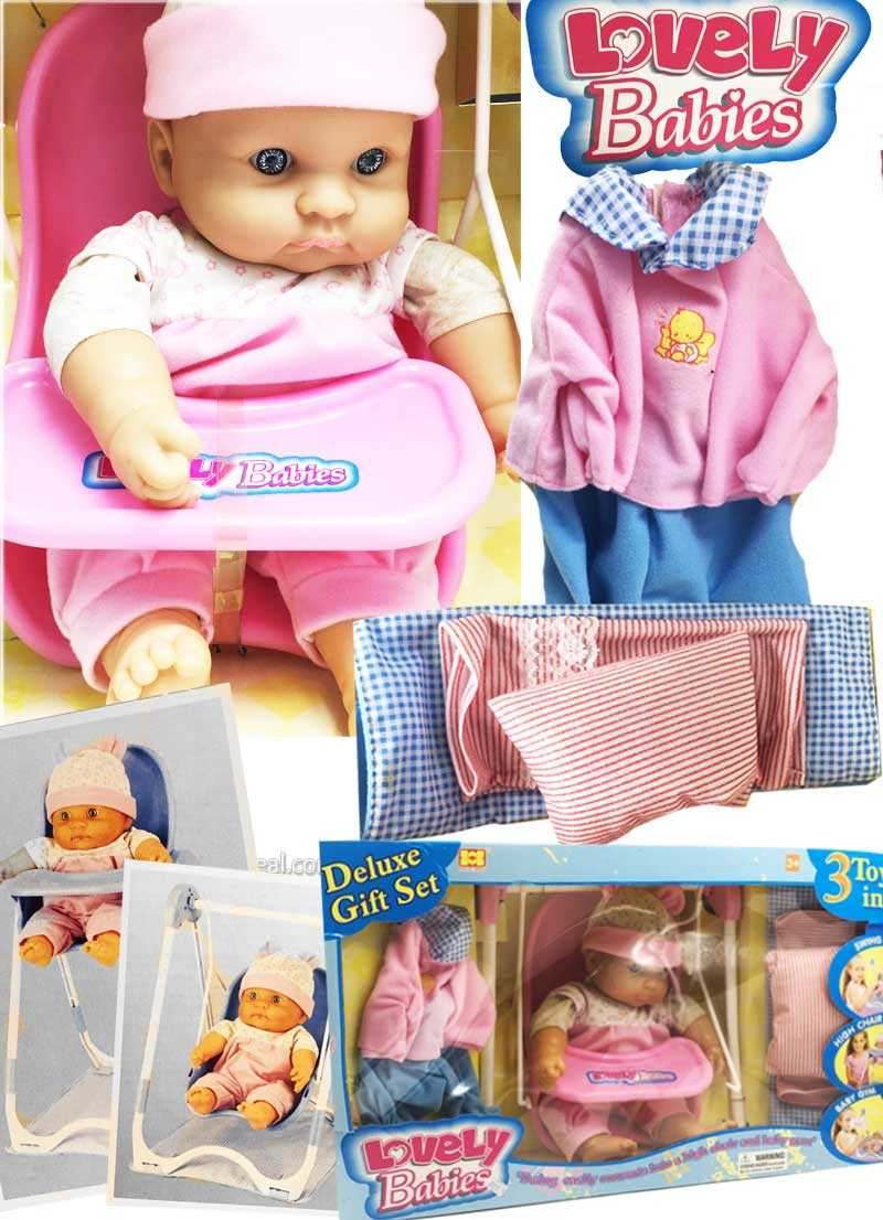 Lovely babies swing easily converts into high baby gym doll