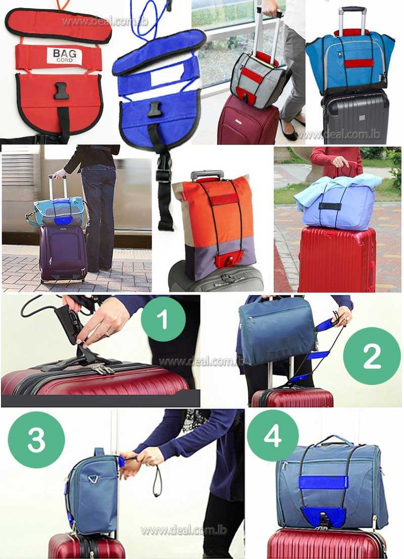 Luggage Bag Cord Travel Suitcase Cord with a Fixed Bundle Strap Elastic Baggage Cord