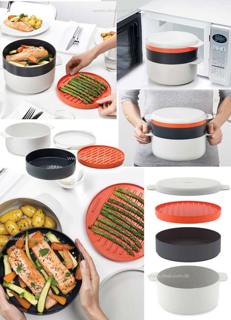 M Cuisine Stackable Cooking Set Microwave