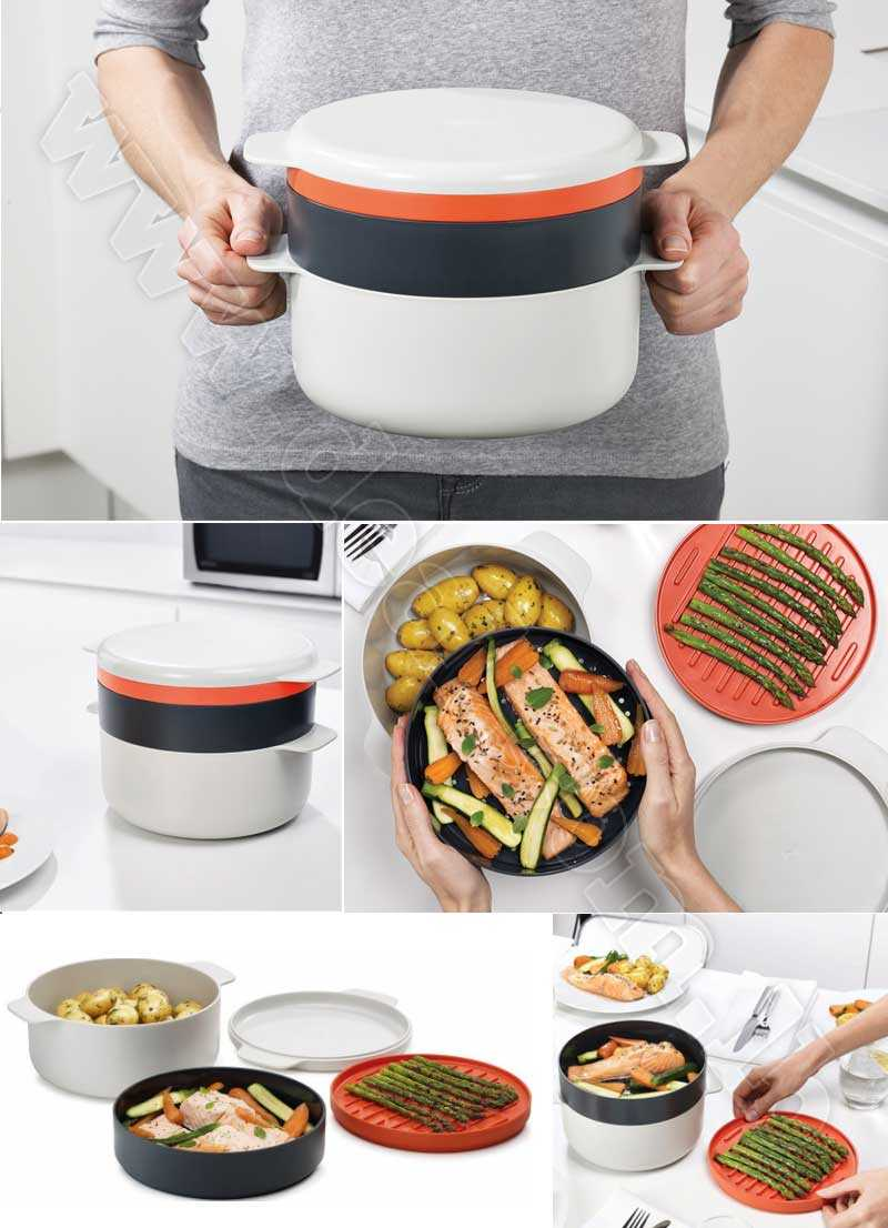 M+Cuisine+Stackable+Cooking+Set+Microwave