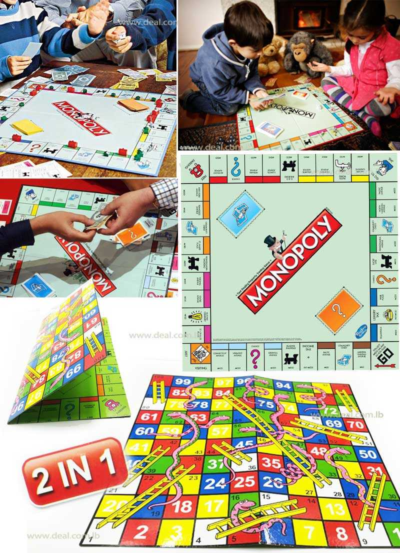 MONOPOLY 2 IN 1 PROPERTY TRADING GAME & SNAKE GAME
