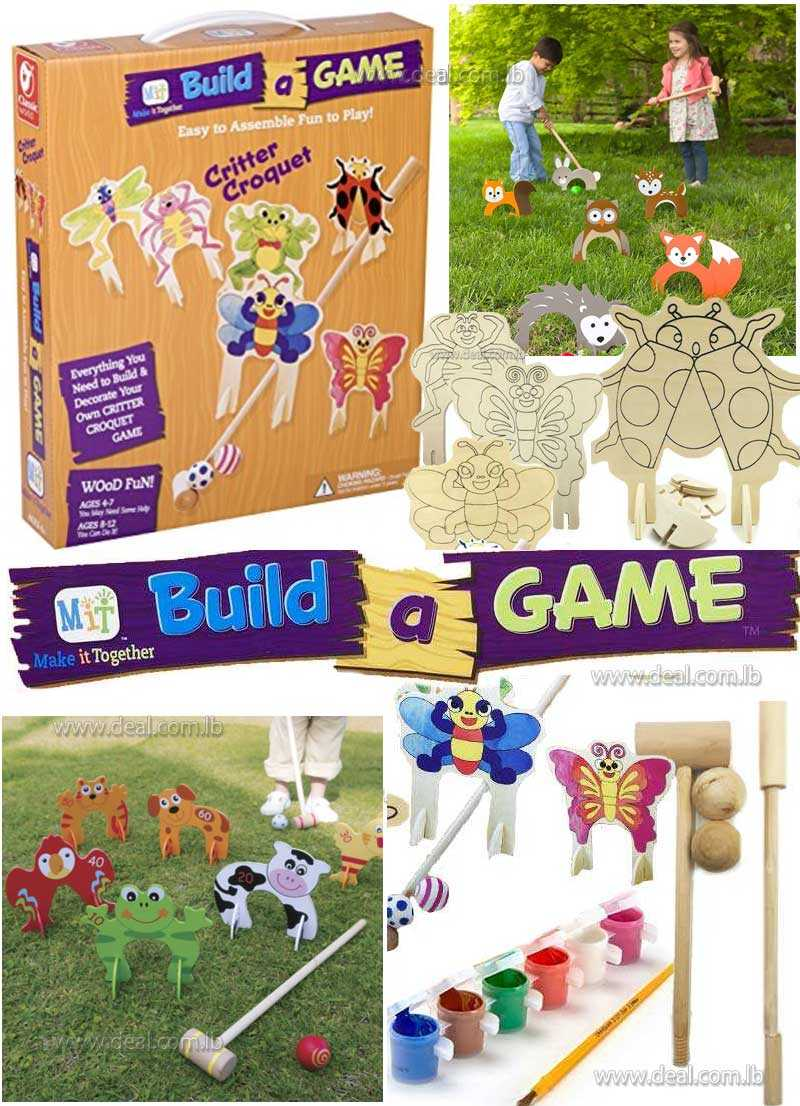 Make it together Build a game  critter croquet