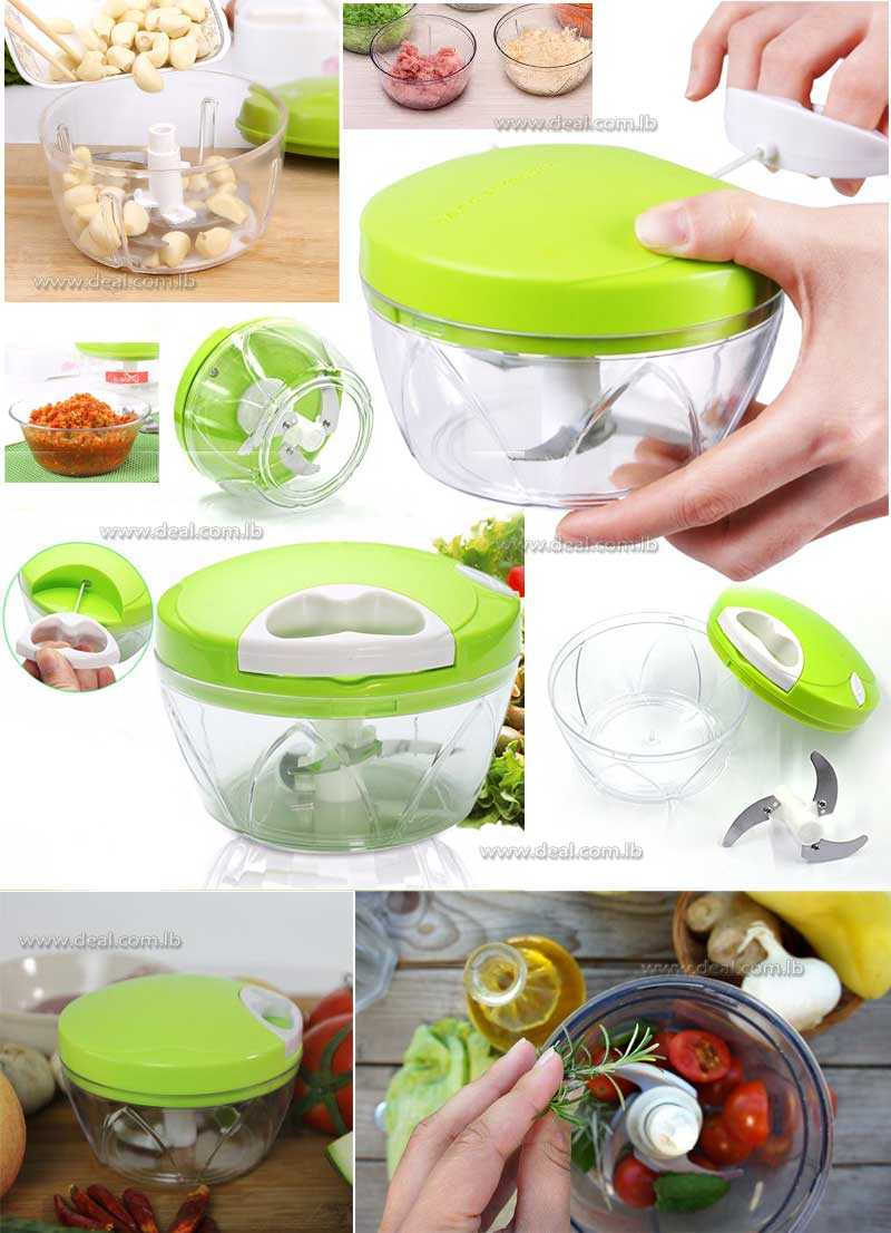 Manual Kitchen Food Chopping Machine Pulling Multifunction Blender For Fruit And Vegetable