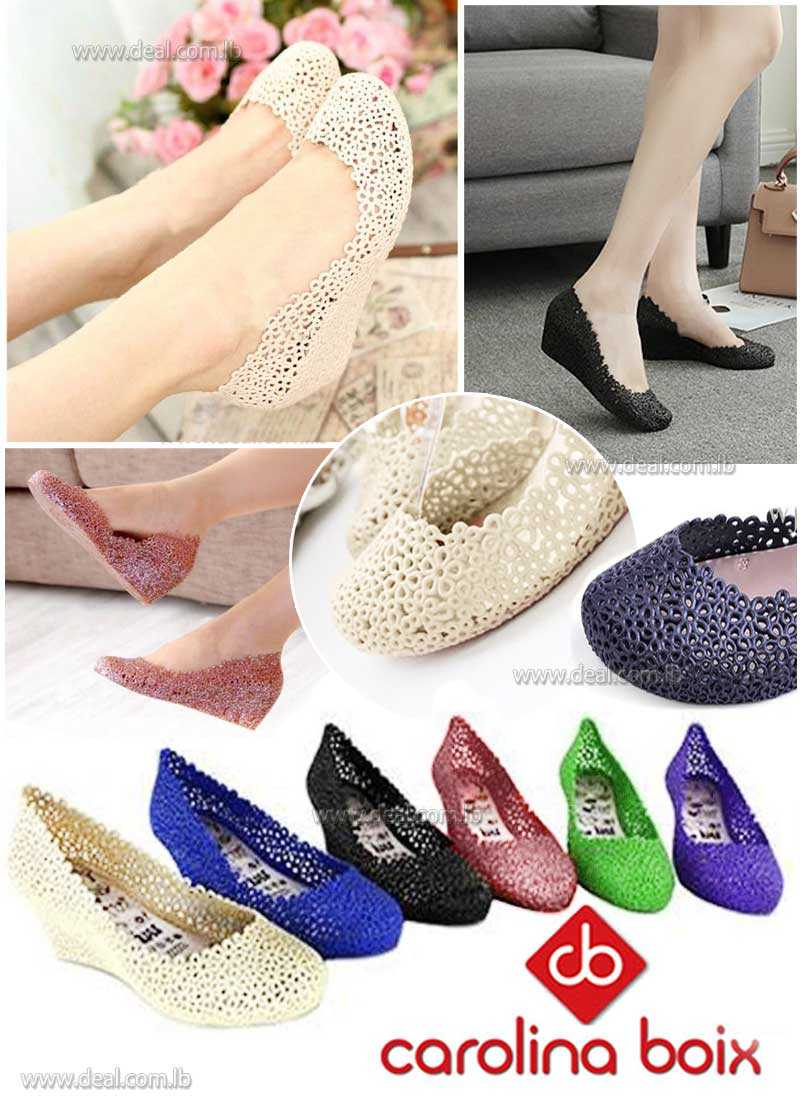 Mary Jane Wedges Shoes Rain Shoes Hollow Out Nest