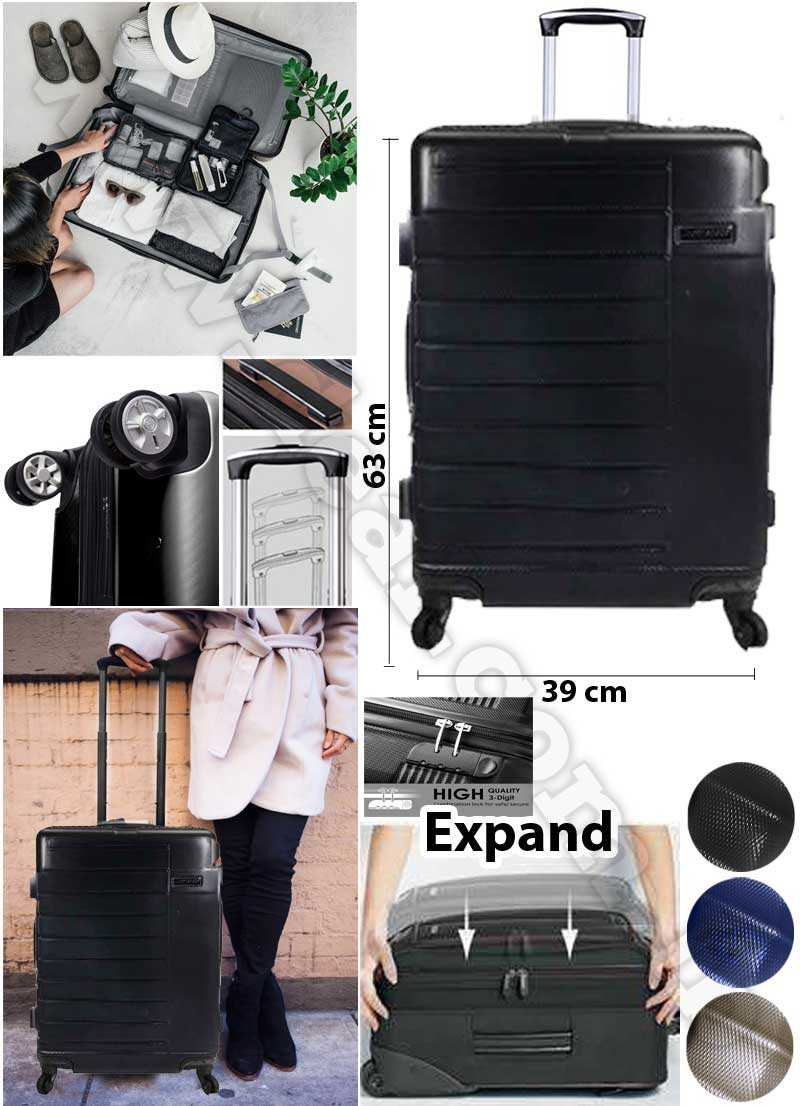 Medium Size Luggage Super space  Suitcase Hardshell Lightweight